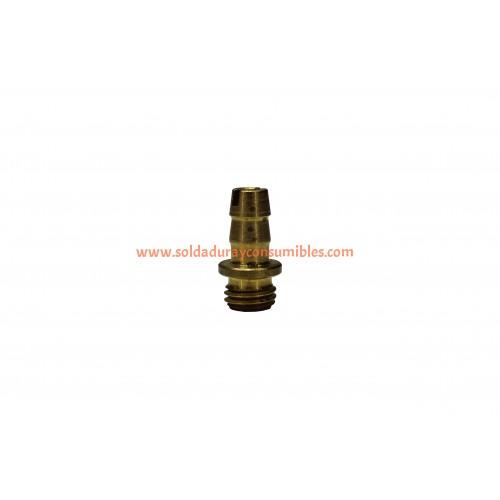 "Miller 149959 Brass Barbed Hose Fitting 3/16"" X .312"" - 24"