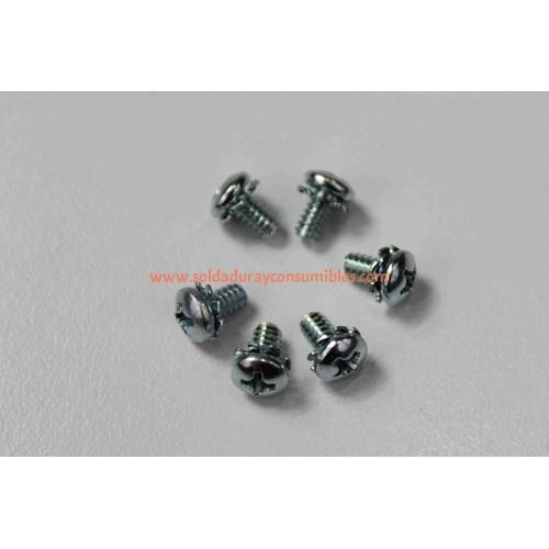 Miller Screw 006-32X .25 Pan Hd-Phl w/Ext washer(SEMS)STL 228562