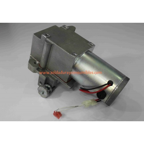 Miller 234975 motor right angle 24VDC 150 rpm 37.5 ratio com Plug assembly