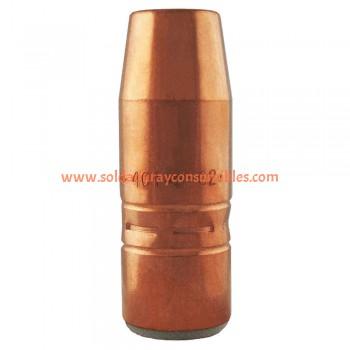 """Boquilla 5/8"""" Bore; 1/4"""" Tip Recess; Copper Tregaskiss 401-5-62"""
