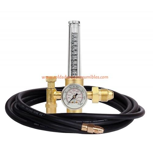 Regulador de caudalímetro 25psi argón, dióxido de carbono 07812743 de Victor Thermal Dynamics.